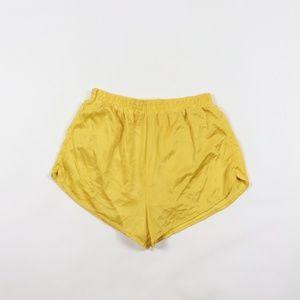 Vintage 90s Silky Nylon Short Shorts Mens Medium